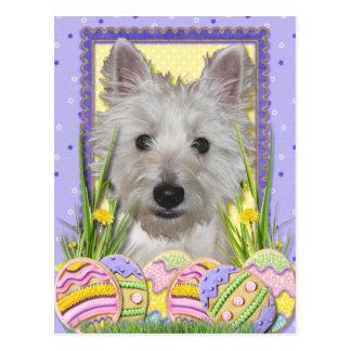 Osterei-Plätzchen - Westhochland Terrier - Postkarten