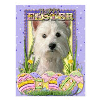 Osterei-Plätzchen - Westhochland Terrier Postkarten