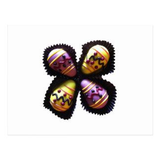 Osterei-Schokoladen Postkarte