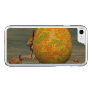 Osterei und Hasen - 3D übertragen Carved iPhone 8/7 Hülle