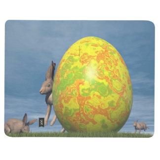 Osterei und Hasen - 3D übertragen Taschennotizbuch