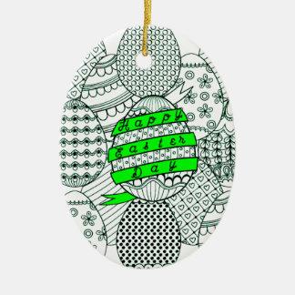 Ostereier Ovales Keramik Ornament