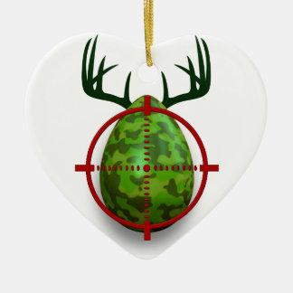 Ostereitireur, lustiges Ostern-Rotwildgeschenk Keramik Ornament