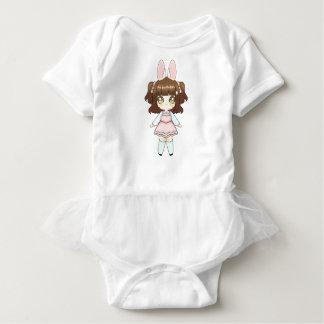 Osterhase Chibi Mädchen Baby Strampler