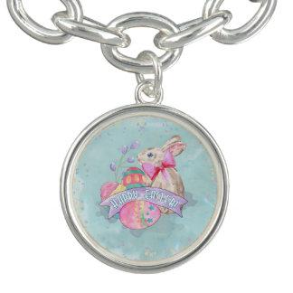 Osterhase, Eier und Confetti ID377 Charm Armbänder
