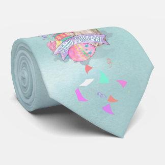 Osterhase, Eier und Confetti ID377 Krawatte