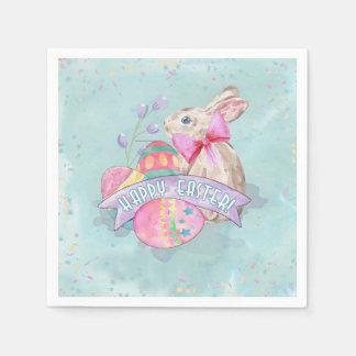Osterhase, Eier und Confetti ID377 Servietten