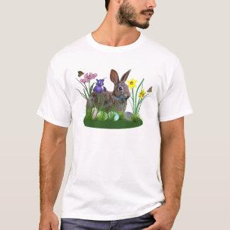 Osterhase, Eier und Frühlings-Blumen T-Shirt