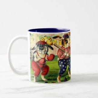 Osterhasen-Baseball-Kaffee-Tasse Zweifarbige Tasse