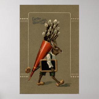 Osterhasen-Blume Poster