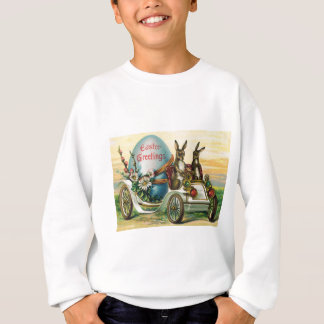 Osterhasen-Ei-Auto-Gänseblümchen Sweatshirt