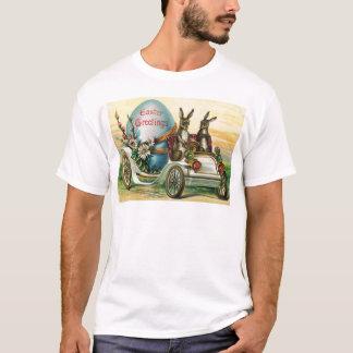 Osterhasen-Ei-Auto-Gänseblümchen T-Shirt