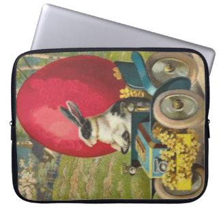 Osterhasen-Ei-Auto-Landschaft Laptop Computer Schutzhüllen