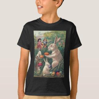 Osterhasen-farbige Ei-viktorianische Frauen T-Shirt