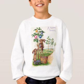 Osterhasen-farbiger Ei-Baum Sweatshirt