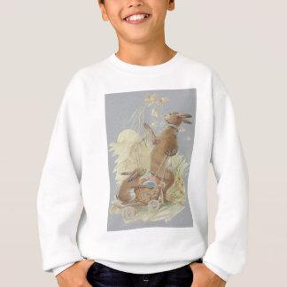 Osterhasen-farbiges gemaltes Ei-Korb-Gänseblümchen Sweatshirt