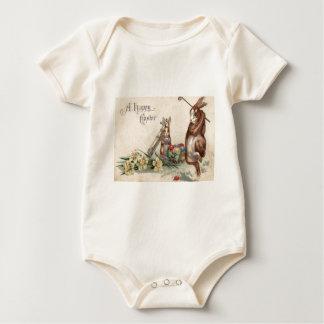 Osterhasen-Golf färbte gemalte Ei-Narzisse Baby Strampler