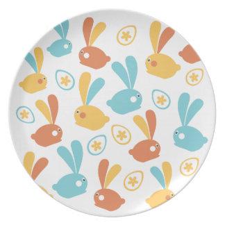 Osterhasen-Illustration Platte Teller