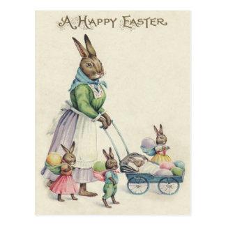 Osterhasen-Kinder farbiges Ei Postkarte