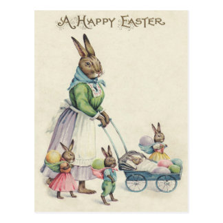Osterhasen-Kinder farbiges Ei Postkarten