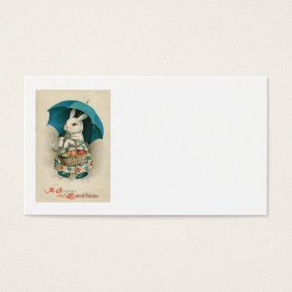 Osterhasen-Korb farbiger Ei-Regenschirm Visitenkarte