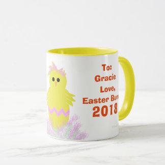 Osterhasen-Rosa-Grün-Küken Eggs Andenken Tasse