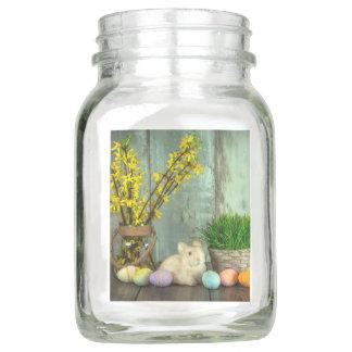 Osterhasen-und Ei-Szene Einmachglas