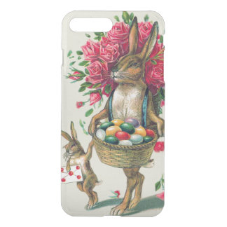 Osterhasen-Vati-KinderRosen-Korb-Ei iPhone 8 Plus/7 Plus Hülle