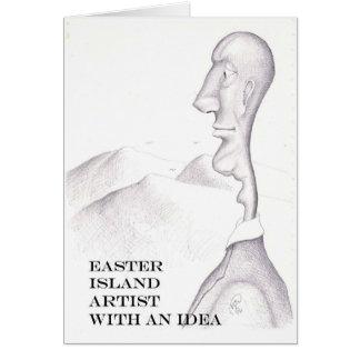 Osterinsel-Künstler Karte