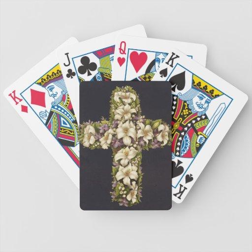 Osterlilien-Kreuz Spielkarten