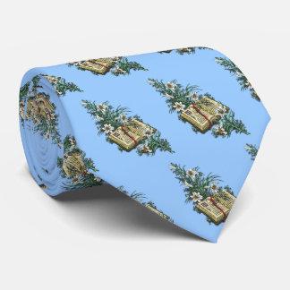 Osterlilien und heilige Bibel Krawatte