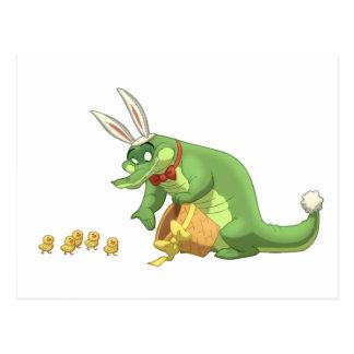 Ostern-Alligatorpostkarten Postkarte