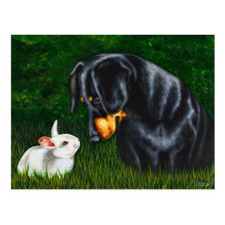 Ostern-Auge zum zu mustern - Dackel-Hund und Postkarte