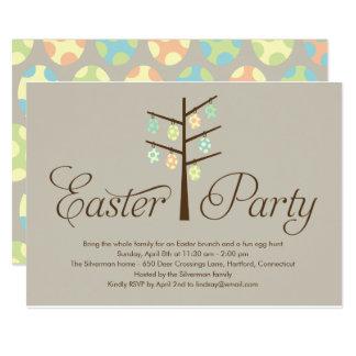 Ostern-Baum-Ostern-Party Einladung