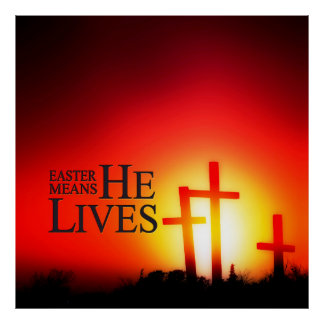 Ostern bedeutet, dass er Druck lebt Poster
