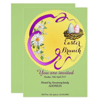 Ostern-Brunch-Eier in der Nest-Einladung Karte