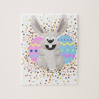 Ostern, bunt, Kaninchen, lustig Puzzle