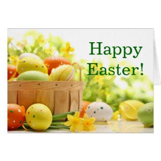 Ostern-Dekoration mit Eiern Karte