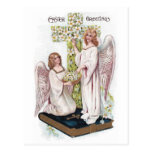 Ostern-Engel auf Buch mit Kreuz Postkarten