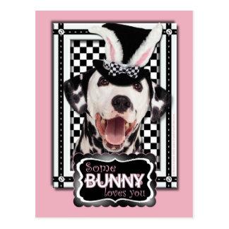 Ostern - etwas Häschen-Lieben Sie - Dalmatiner Postkarte
