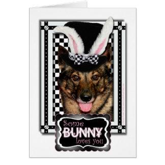 Ostern - etwas Häschen-Lieben Sie - Vallhund Karte