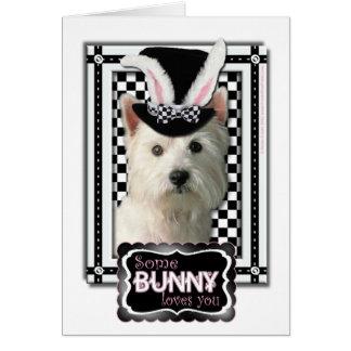 Ostern - etwas Häschen-Lieben Sie - Westie Karte