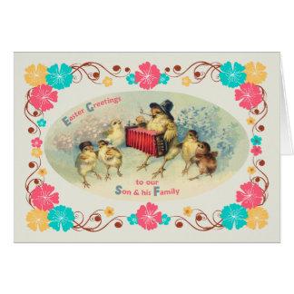 Ostern für Sohn u. seine Familien-Vintagen Karte
