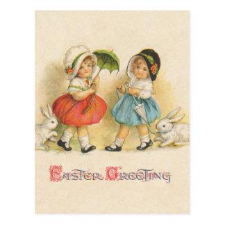 Ostern-Gruß Vintag Postkarte