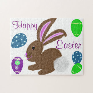Ostern-Häschen verzierte Eier Puzzle
