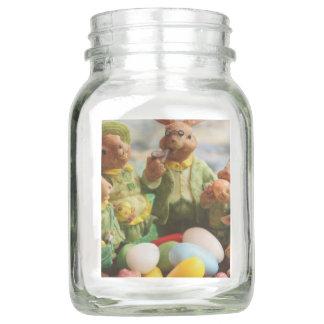Ostern-Häschenfamilie und -eier Einmachglas