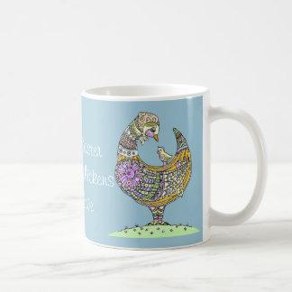 Ostern-Henne und Kükenbecher Kaffeetasse
