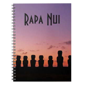 Ostern-Insel Rapa Nui Chile Südamerika Spiral Notizblock