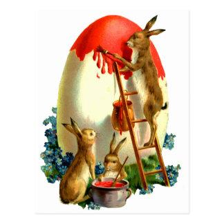 Ostern-Kaninchen Postkarte
