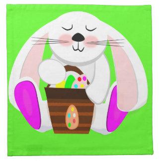 Ostern-Kaninchen Stoffserviette